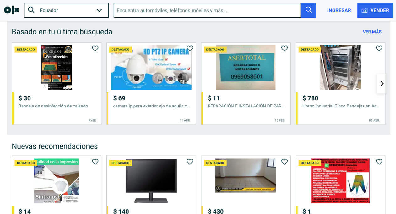 OLX es un tipo de comercio electrónico