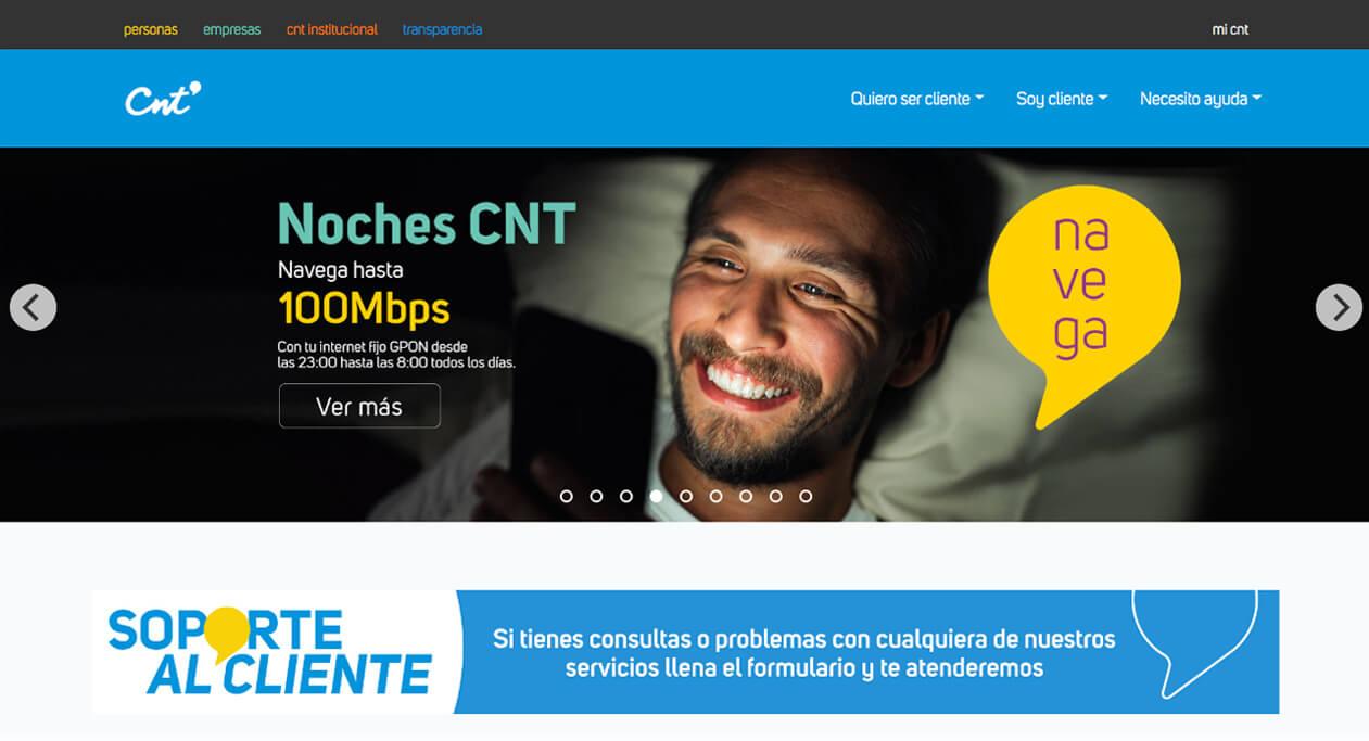 CNT es un comercio electrónico tipo G2C